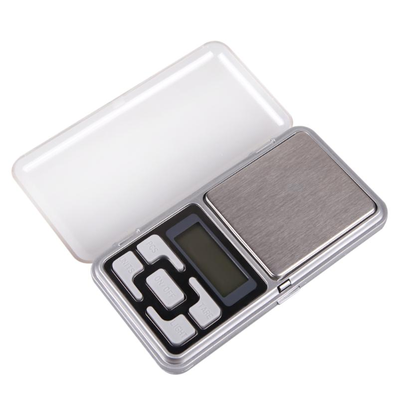 Portable Mini Digital Scale LCD Display With Blue Backlight 500g x 0.1g Jewelry Pocket Balance Weight Gram Cooking Measures Tool