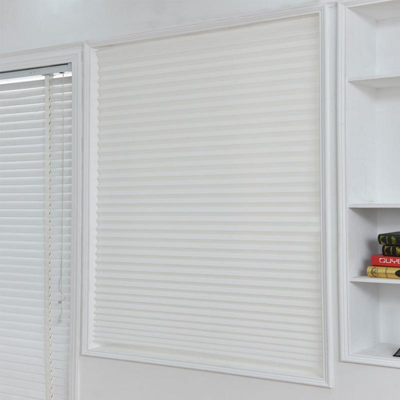 Self-Adhesive Pleated Blinds Half Blackout Windows Curtains For Bathroom Kitchen Balcony Shades Office Lliving Room Blind