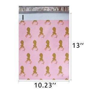 Image 2 - Schnelle Mailer 100PCS 260x330mm 10x13/zoll Gedruckt Weihnachten Hirsch Muster Poly Mailer Selbst abdichtung Kunststoff Umschlag Taschen