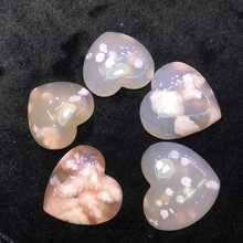 Wholesale natural variety of colorful cherry blossom agate various pendants diy