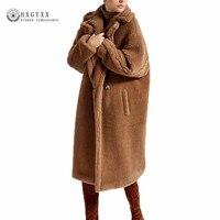 2018 Women Faux Fur Teddy Coat Winter Thick Warm Fluffy Long Fur Coats Fashion Fur Jackets Overcoat Plus Size Outerwear OKD569