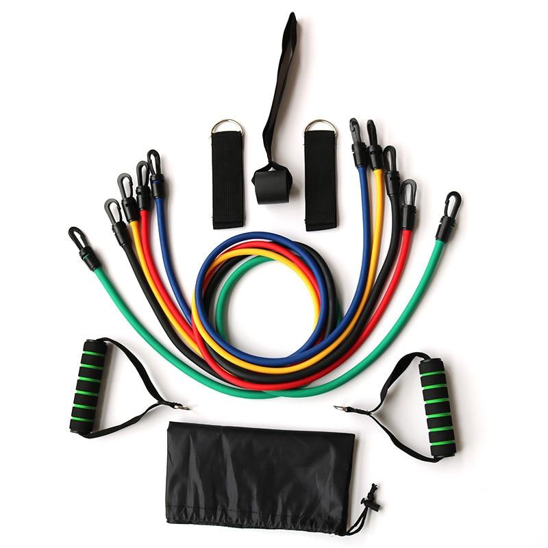 Latex tension belt Pull rope suit Plastic hook Bodybuilding Elastic rope Yoga household Closed