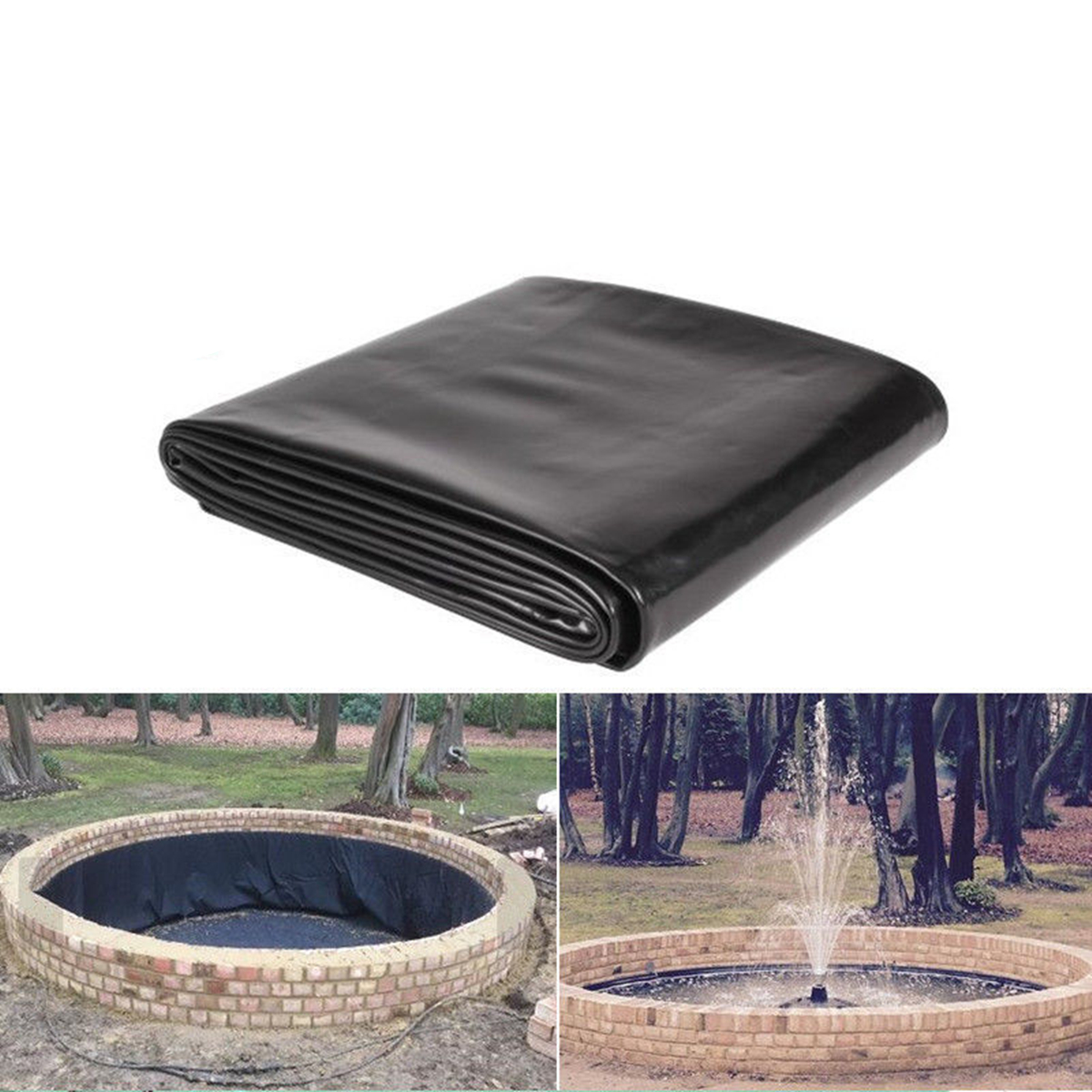 New 3x3ft 30S Waterproof Liner Film Fish Pond Liner Garden Pools Reinforced HDPE Heavy   Guaranty Landscaping Pool Pond