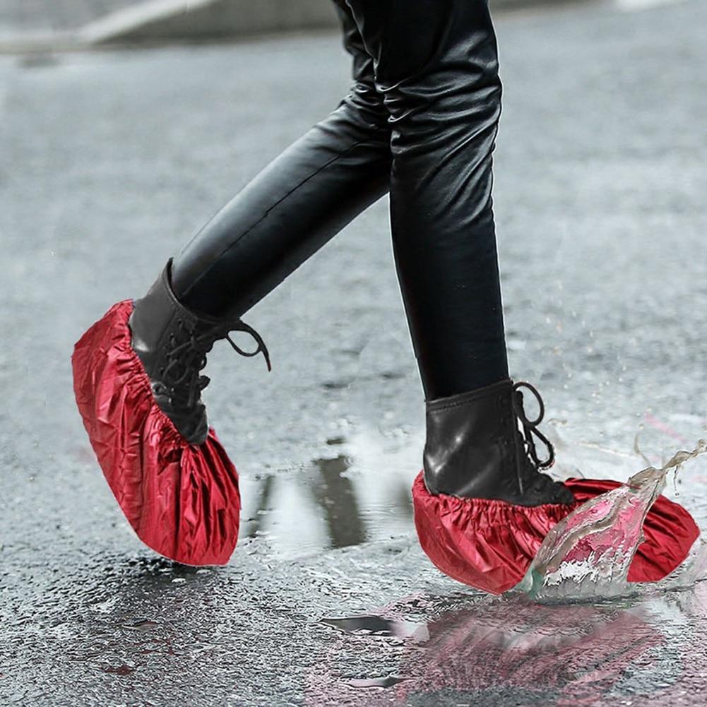 1 Paar Wiederverwendbare Schuhe Abdeckungen Wasserdichte Anti-slip Regen Stiefel Abdeckung Verdicken Durable Poncho Überschuhe Undurchlässig Schuh Zubehör Angenehme SüßE