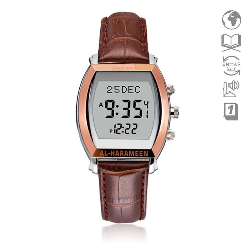 Men's Watches Muslim Men Watch With Prayer Alarm 6260 Waterproof Azan Watch With Qibla Tonneau Watch Naviforce Skmei Montre Femme Regular Tea Drinking Improves Your Health Digital Watches
