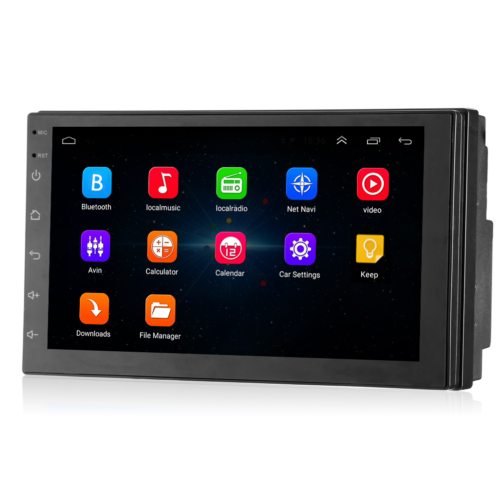 Universal 2 Din 7 inch Car Multimedia Player Android 7.1 Auto Radio Stereo with GPS Navigation WIFI Bluetooth 4.0 FM AM Tuner eincar 7 inch auto radio double 2 two din car stereo android 6 0 quad core gps navigation 1080p video play bluetooth wifi fm am