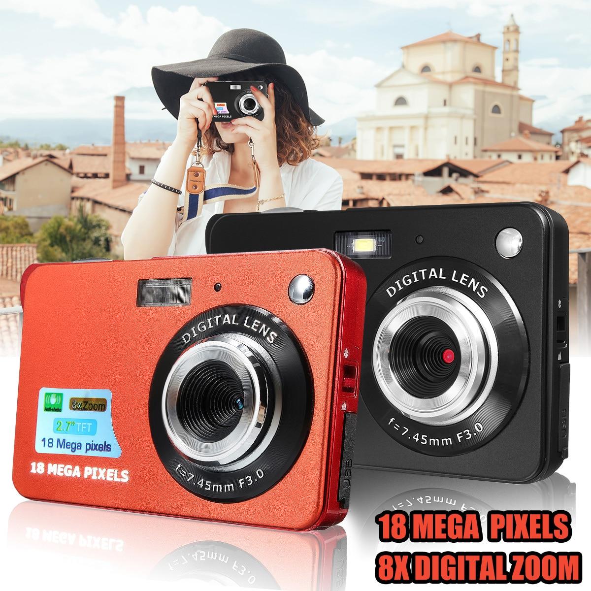 Portable mini caméra 2.7 720 P 18MP 8x Zoom TFT LCD appareil photo numérique hd caméscope vidéo Caméscope DV Anti-Shake Caméra