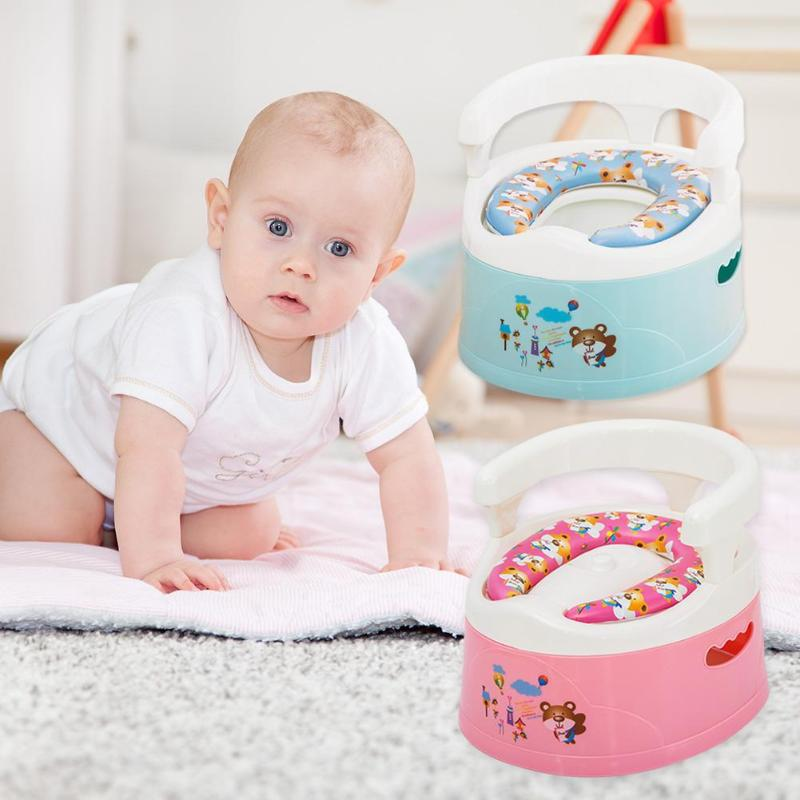 Children Anti Skid Potty Toilet Training Seat Soft Cushion Toddler Urinal Thicken Portable Comfortable Chair Back Toilet Pad Ped