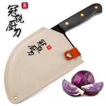 HandmadeมีดเชฟปลอมแปลงCladเหล็กจีนCleaver Professionalมีดครัวเนื้อผักหั่นสับเครื่องมือ