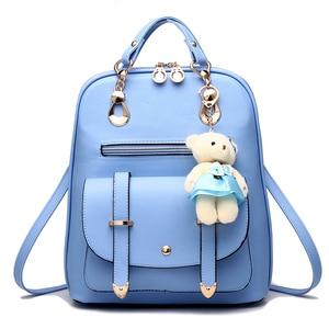 Image 1 - 女性 mochila 女性 bagpack 女の子ための十代の簡潔な女性のバックパックバッグ嚢 a ドスバックパック sırt çantası ミニバックパック