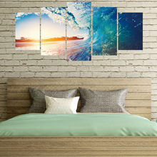 Room Decoration Creative Sunset Ocean Waterproof Removable 3d Wall Stickers Bedroom Decor Home Decoration Accessories removable waterproof elephants pattern 3d wall stickers for living room bedroom decoration