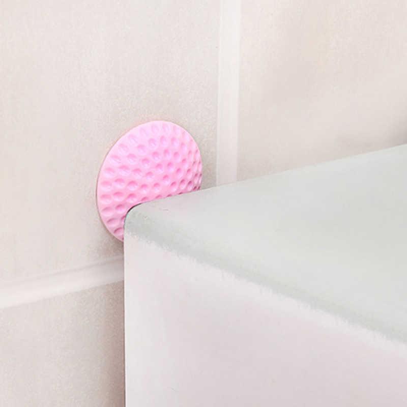 1 PC engrosamiento de la pared Mute puerta pegatina puertas almohadilla de choque Anti-colisión pegatina Golf estilo Manilla de goma cerradura de la puerta almohadilla protectora