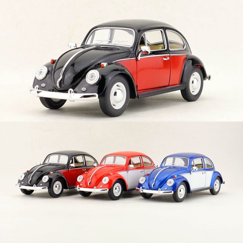 Kinsmart Diecast Metal Model/1:24 Scale/1967 Volkswagen Classical Beetle Special Toy/for Childrens Gift Or Collection To Adopt Advanced Technology Toys & Hobbies