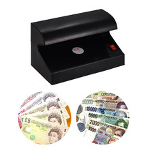 Portatile Desktop Multi-Valuta Rivelatore Dei Soldi Contraffatti Cash Valuta Banconota Checker Tester Singolo Luce UV per EURO POUND(China)