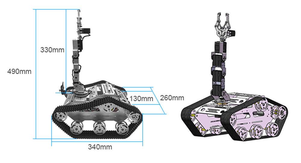 Recentes 2019 TL-TECH KiBOT-2 6DOF RC Robô Braço Carro PS2 Vara de Controle Kit de Educação Para As Crianças Presente