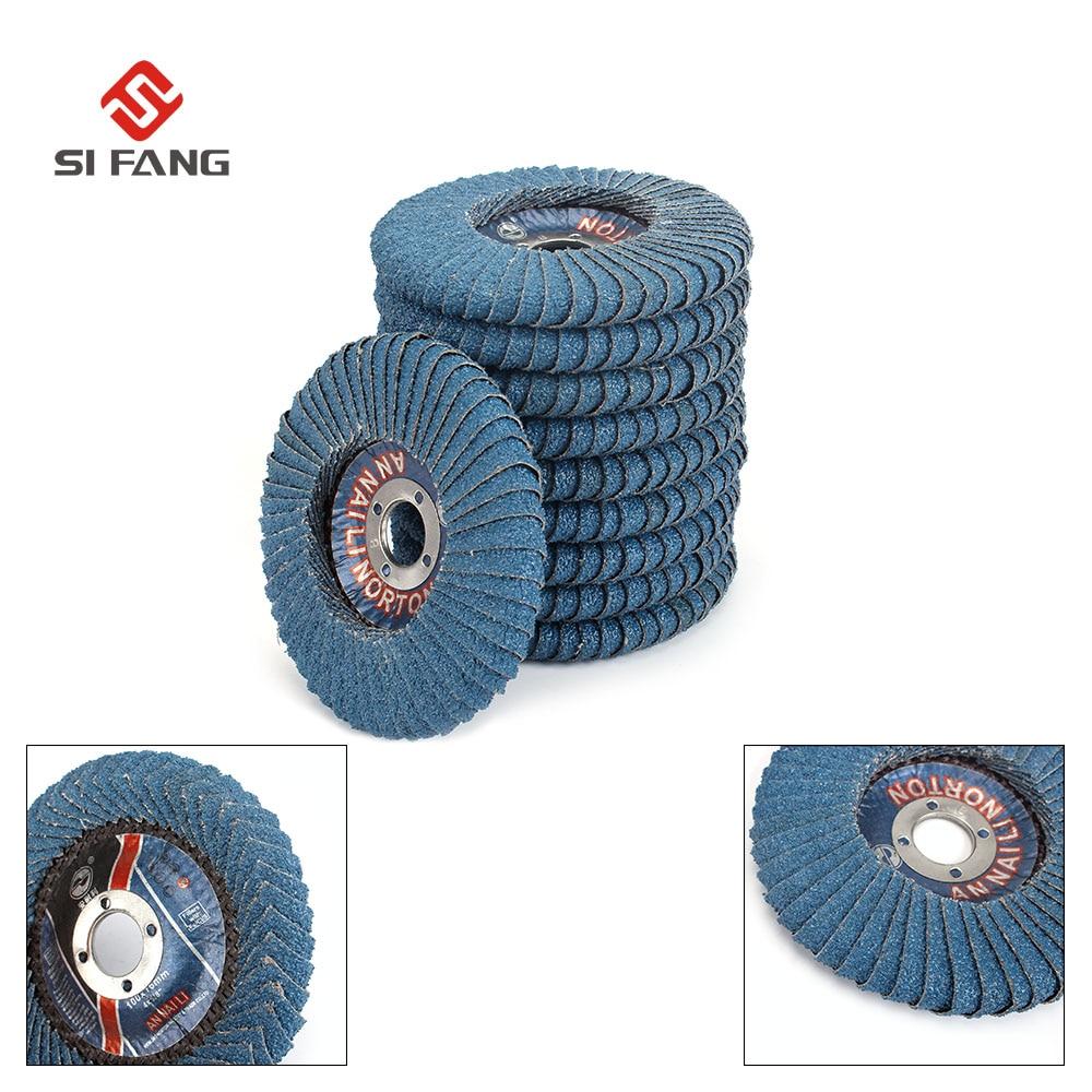 5Pcs 4''x7/8'' Flap Disc Abrasive Sanding Wheels , Radial Shape, Round Hole, Zirconia Alumina,Grit40