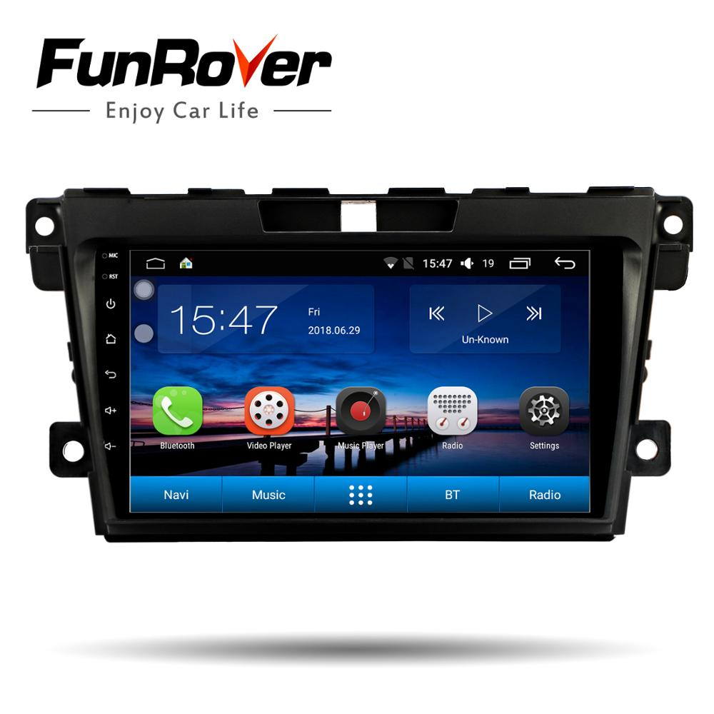 Funrover 9 2 din android 8.0 car dvd multimedia player For Mazda CX7 CX 7 CX-7 2008-2015 stereos car radio gps navigation wifi