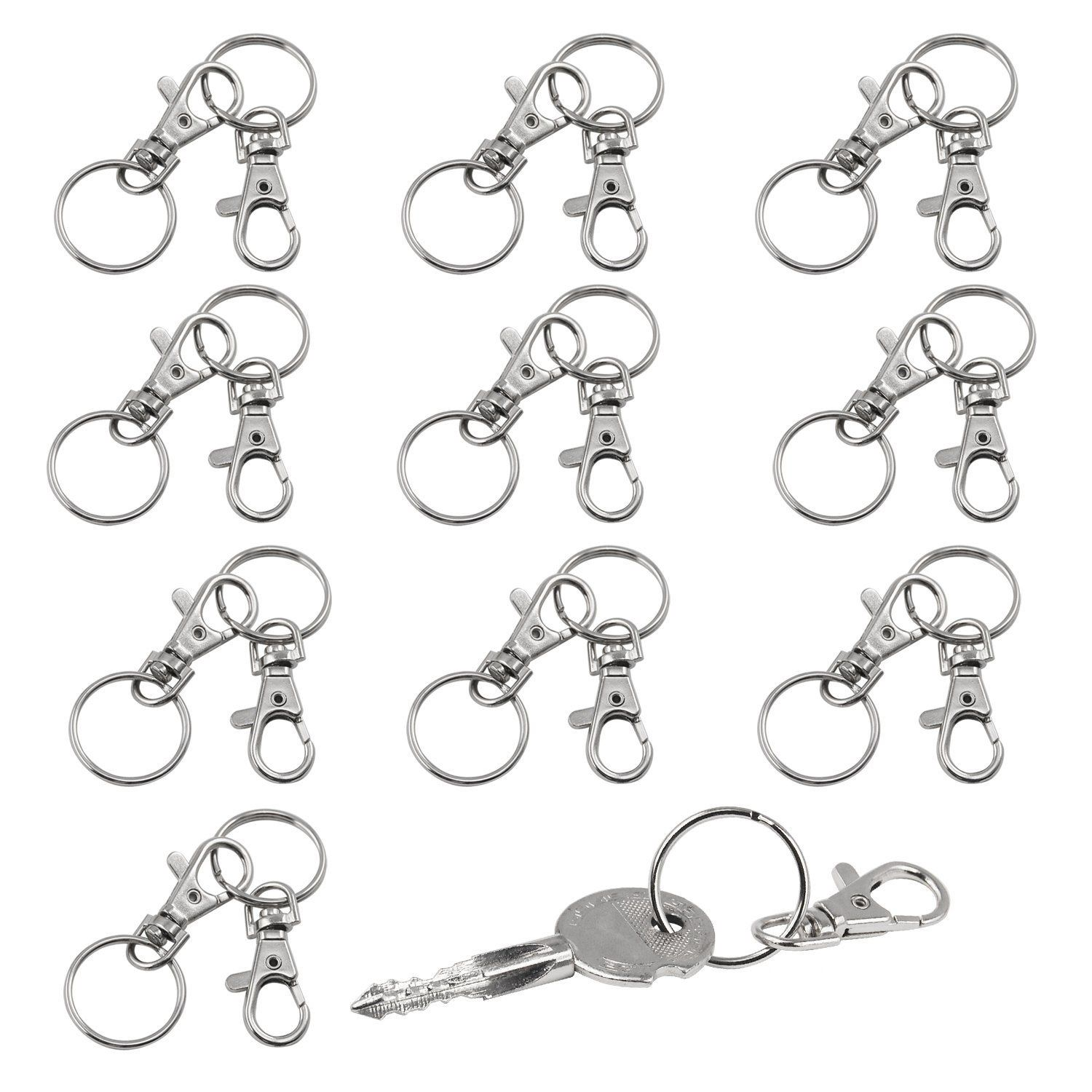DSGS 20 Small Removable Screw Caps For Key Rings - Carabiner Key Chain - Cosmetics & Jewelery