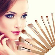 8pcs Bamboo Handle Makeup Brushes Kit Natural Soft Bristles Foundation Blush Multifunction Cosmetic Brush Beauty Make Up Tool стоимость
