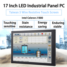 17 Inch Fanless Taiwan 5 Wire Touch Screen ,Industrial Panel PC ,Intel Celeron J1800,Win10 Or Linux All In One PC,[DA04W]