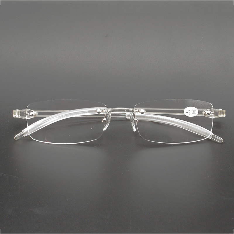 Flexible Women Transparent Reading <font><b>Glasses</b></font> Frameless Magnifier TR90 Ultralight Presbyopia +0.<font><b>5</b></font> +0.75 +<font><b>1</b></font> +<font><b>1</b></font>.25 +<font><b>1</b></font>.<font><b>5</b></font> +<font><b>1</b></font>.75 +2 ~ +4 image