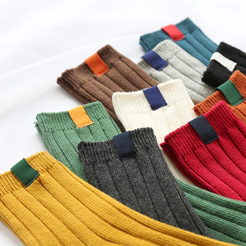 HOT 1Pair Warm Women Socks Striped Socks Autumn Winter Style Christmas Winter Socks For Woman Female Funny Sock Calcetines Meias