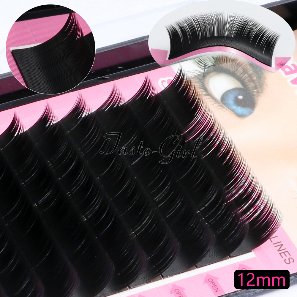 Learned 1 Tray 12 Rows 0.15c Curl Black Long Individual Natural Mink Eyelash Extension Artificial Fake False Eyelashes 8/10/12/14mm False Eyelashes Beauty & Health