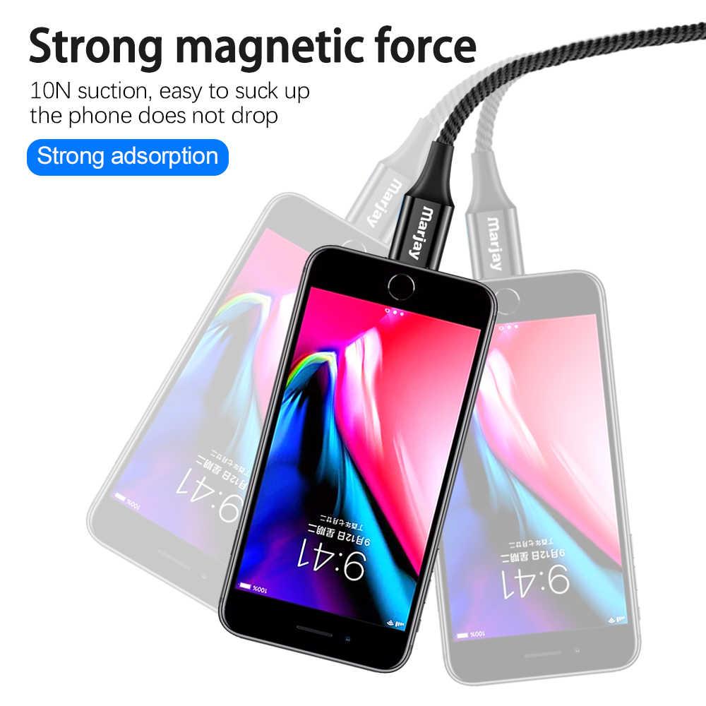 MArjay 2m สาย Micro Usb ประเภท C Super Fast ชาร์จโทรศัพท์ Usb C QC3.0 สำหรับ IPhone Xiaomi huawei โทรศัพท์ Android