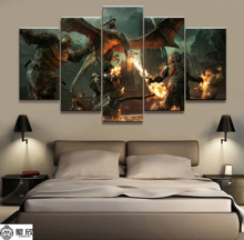5 Panel Middle-earth Shadow of War Game Canvas Painting Living Room Wall Decor Picture Works Poster Wholesale