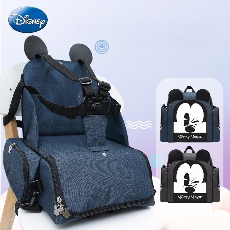Sac à langer bébé Disney Nappy BagvBooster siège imperméable maternité sac à dos de voyage Mickey Mouse Design sac à bandoulière d'allaitement
