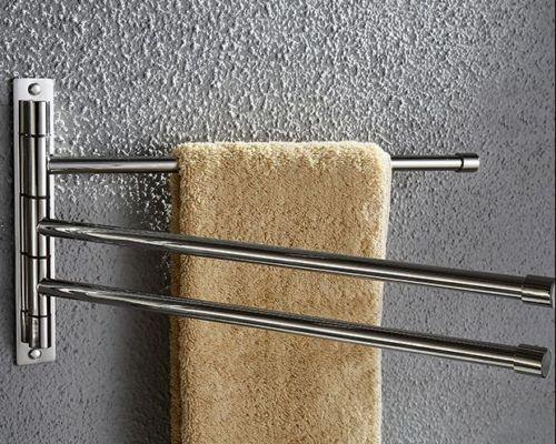 Salle de bains 304 acier inoxydable SUS serviette Bar support étagères étagère support accessoires