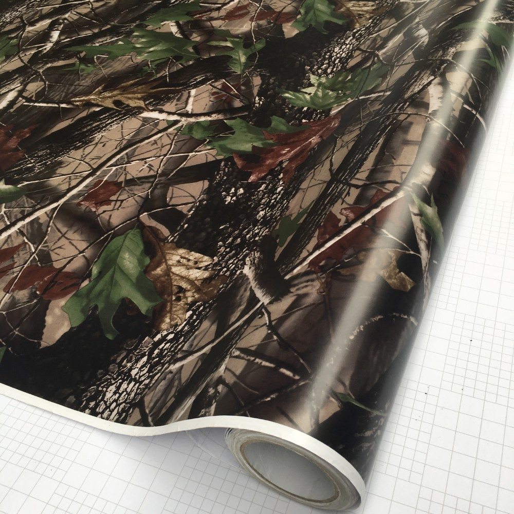 Image 4 - 50*200cm Camouflage Car Wrap Real Camo Tree Vinyl Break up Jumbo Leaf Graphic PVC Car Styling Sticker Film Golf Cart Truck-in Car Stickers from Automobiles & Motorcycles