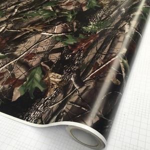 Image 4 - 50*200cm Camouflage Car Wrap Real Camo Tree Vinyl Break up Jumbo Leaf Graphic PVC Car Styling Sticker Film Golf Cart Truck