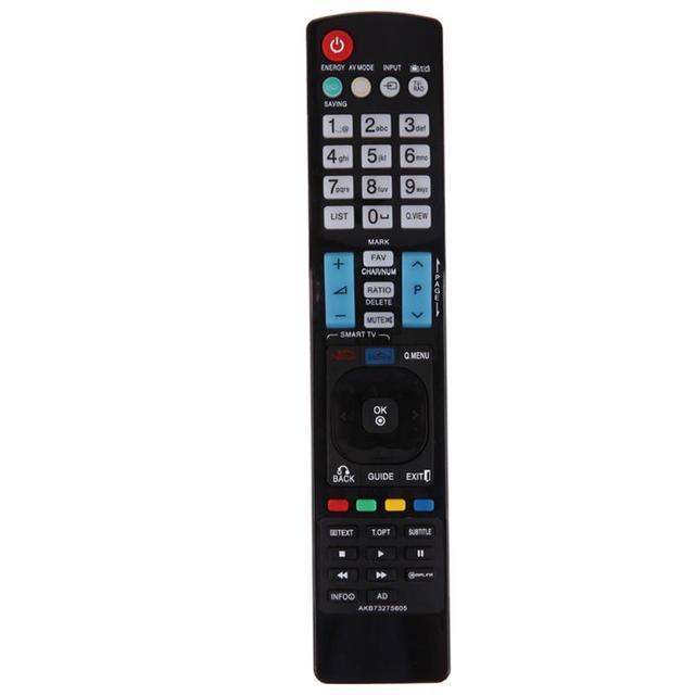 1pc substituição de controle remoto para lg akb73275605 tv controle remoto preto precisando 2 x aaa baterias novo