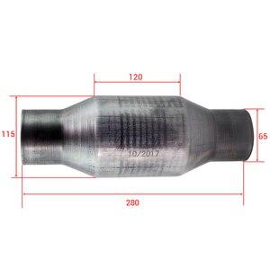 Image 4 - محول الحفاز العالمي 2.5 بوصة تدفق عالي T409 الفولاذ المقاوم للصدأ 410250 الفولاذ المقاوم للصدأ