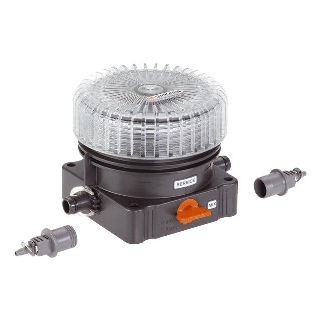"""Дозатор для удобрений GARDENA 08313-20.000.00 (материал - пластик, наземная установка, входное соединение: быстроразъемное 3/16"""", выходное соединение: быстроразъемное 1/2"""")"""