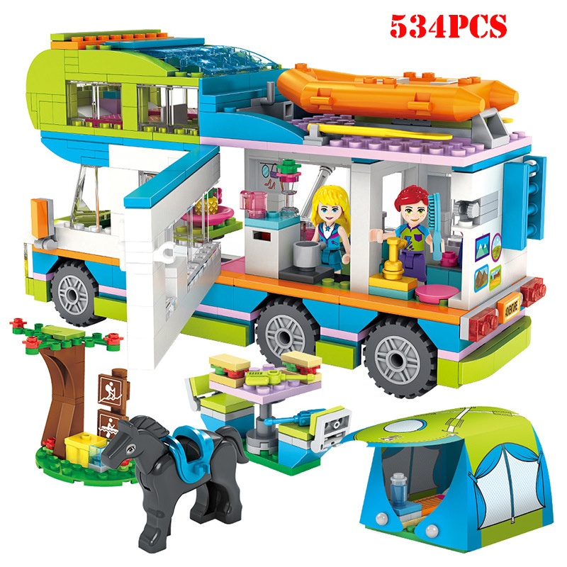 Friends Series Heart Lake City Girls Club Building Blocks Blue Camper Street Pink Cake Cafe  Compatible Legoings Friend T002Friends Series Heart Lake City Girls Club Building Blocks Blue Camper Street Pink Cake Cafe  Compatible Legoings Friend T002
