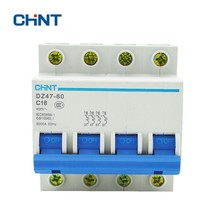 CHINT Miniature Circuit Breaker 4P 16A 230/440V Household Air Switch DZ47-60 C16