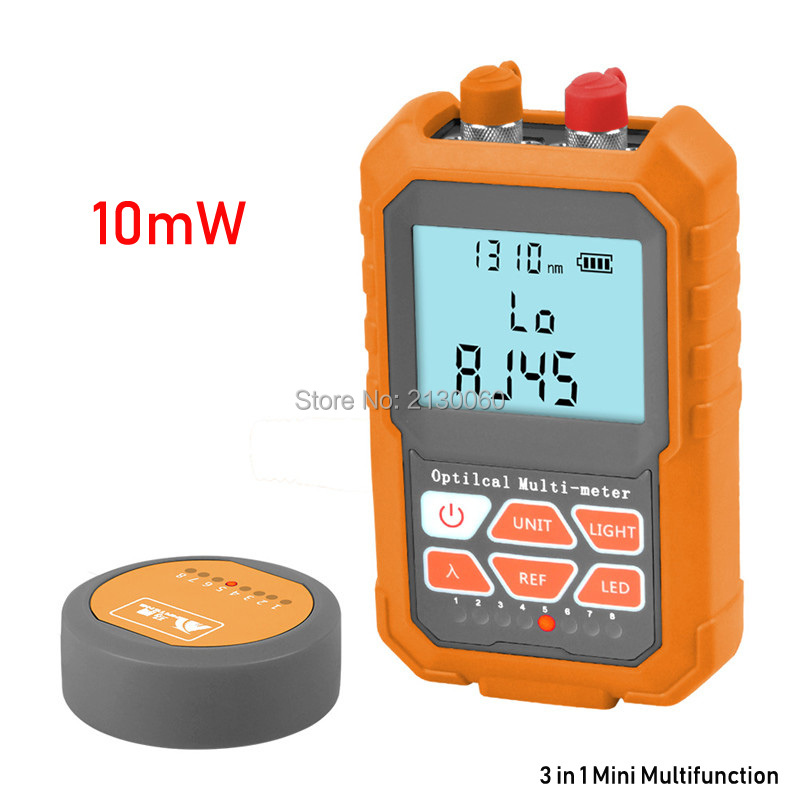Multi-function 3 In1 Optical Power Meter Visual Fault Locator Network Cable Test Optical Fiber Tester, 10mW Visual Fault Locator