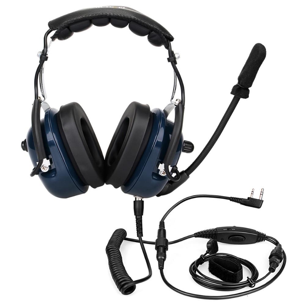 Suppression du bruit casque de Microphone d'aviation talkie-walkie réglage du Volume Vox pour Kenwwod Baofeng UV-5R rechape H7
