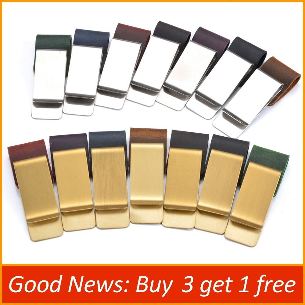 Handnote Metal Leather Pen Pencil Holder Brass Stainless Steel Clip For Notebook Planner Accessories Stationery Products