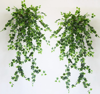 Artificial Creeper Tree Branch Vine Plant Faux Plastic Ivy Greenery Wall Hanging Decoration for Christmas Wedding Decor Foliage