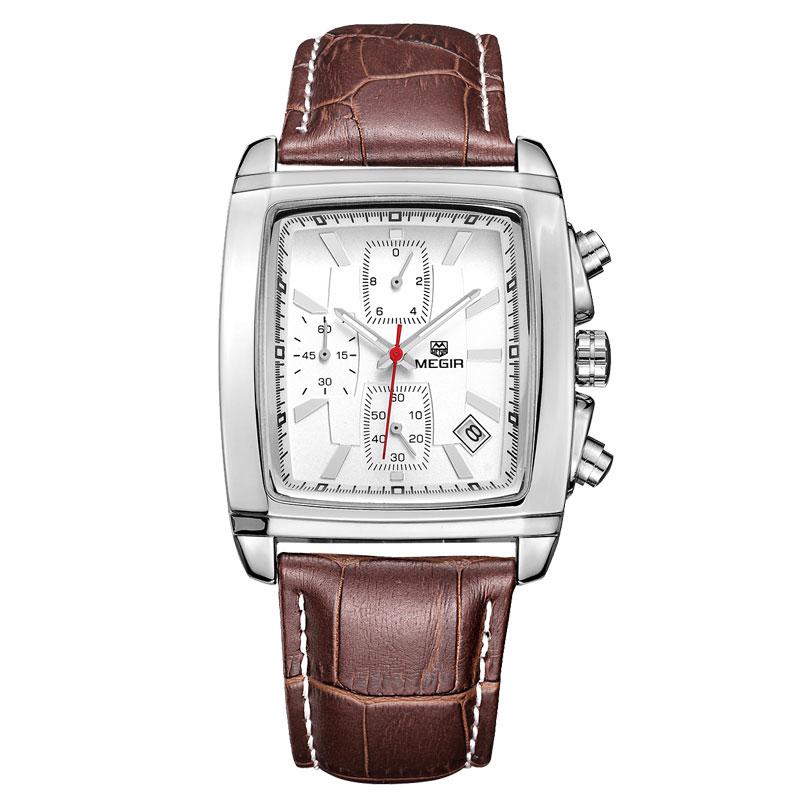 SIHAIXIN 클래식 스퀘어 시계 남성 쿼츠 시계 남성 - 남성 시계