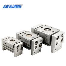 MHL2 10D 16D 20D 25D 32D 40D 1 2 Double Acting Pneumatic Gripper Wide Type Air Parallel Cylinder Al Clamps Bore 10-40mm