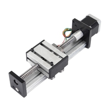 Ball Screw Slide Linear Cnc Slide Stroke 100 mm Stage Actuator Stepper Motor 1.2 A Long life low coefficient of friction stroke l1000mm cross slide sliding table sfu1605 ballscrew c7 linear stage actuator nema23 motor base heavy load