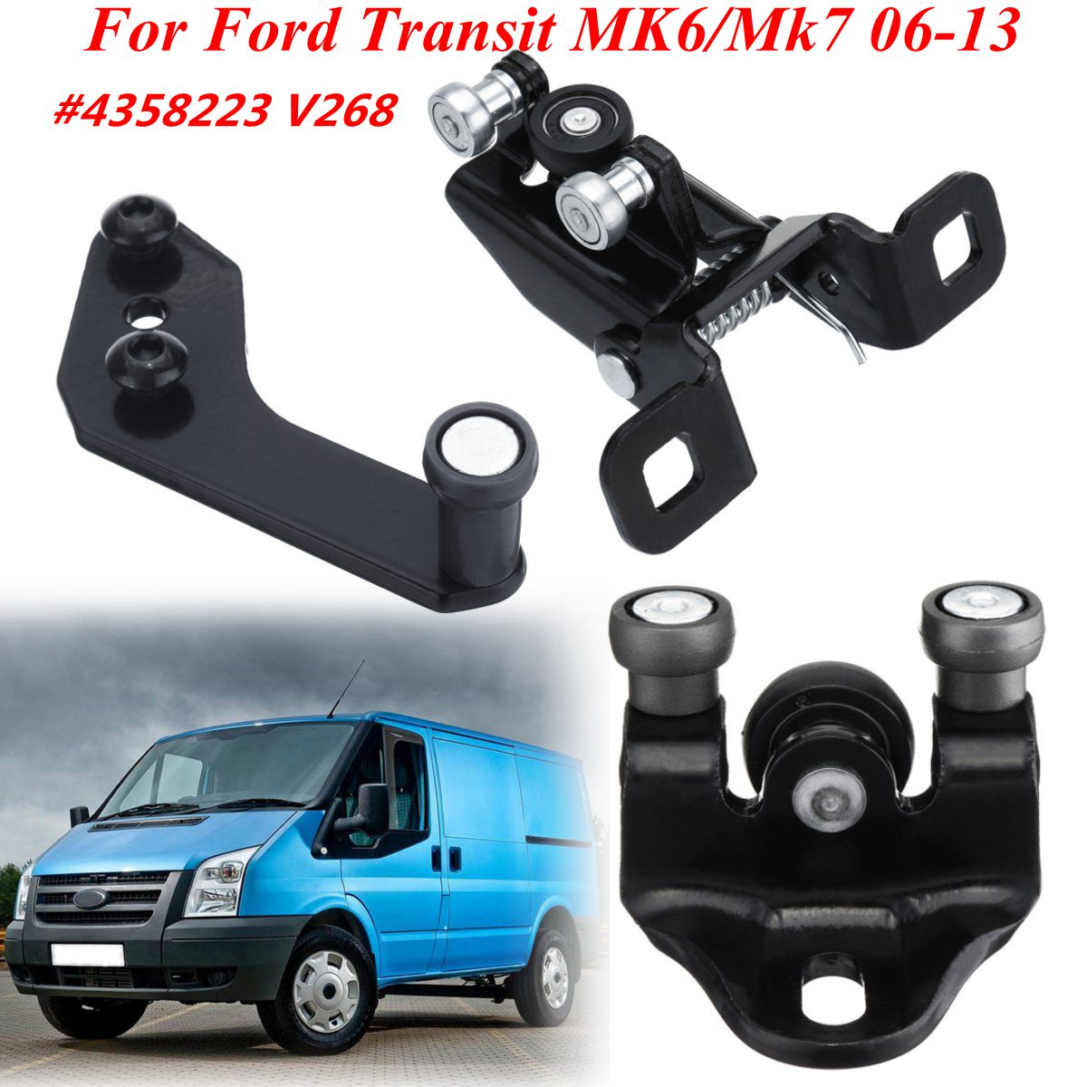 Side Sliding Door Top Middle Bottom Roller Runner Left/Right Side FOR Ford Transit MK7/MK6 2006-2013 4358223 V268 AJ - 4358223