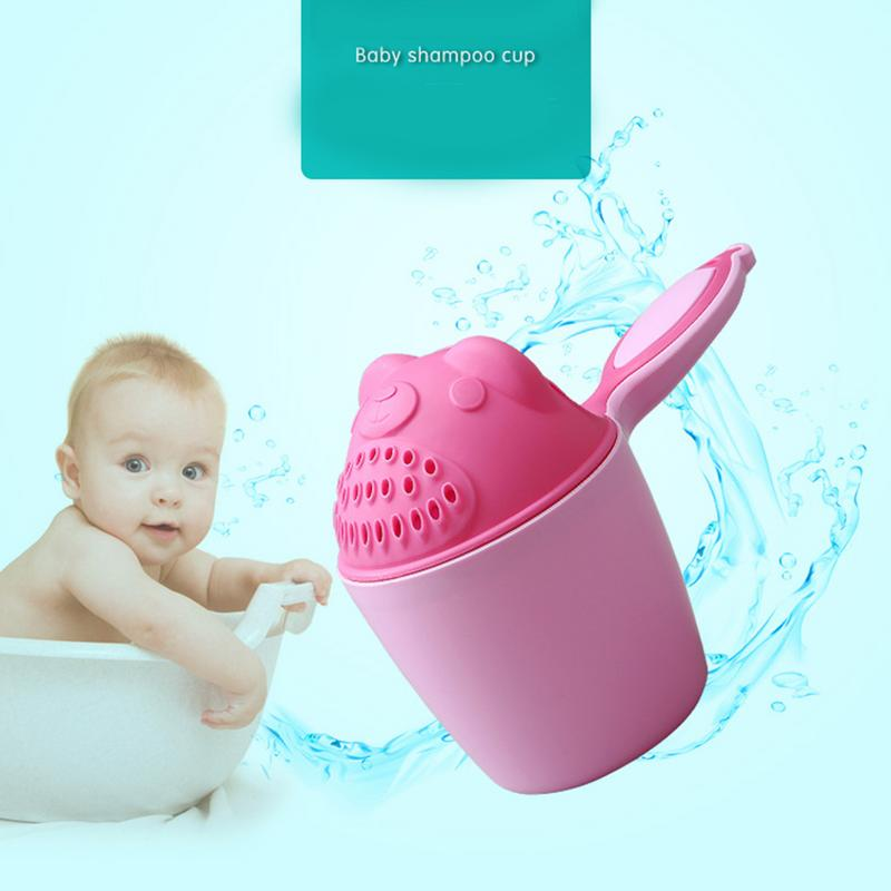Baby Cartoon Bear Bathing Cup Newborn Kid Shower Shampoo Cup