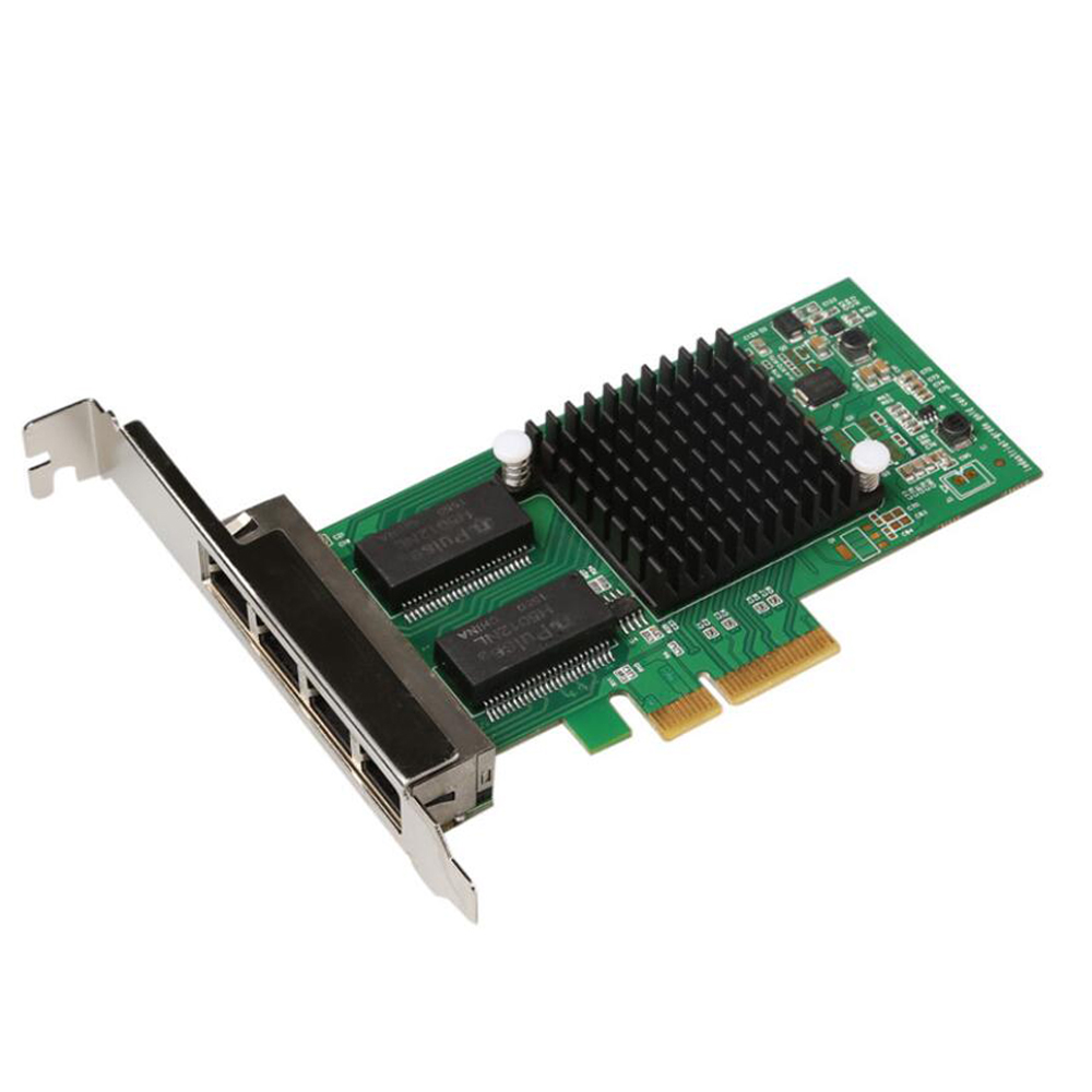KOQIT I350-T4 4 ports Gigabit Ethernet pci-express X4 intel I350-T4 adaptateur serveur carte réseau 1000 M RJ45 pci-express carte Lan