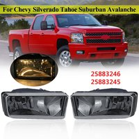 2018 New 1Pair Smoked Bumper Fog Lights for 2007 2008 2009 2010 2011 2012 2013 2014 for Chevy Silverado Tahoe Suburban Avalanche