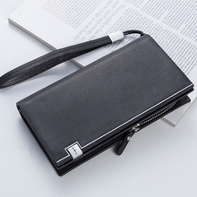 цена на Multi-Function Men's Clutch Bag Long Paragraph European And American Style Hand Grab Bag Men's Wallet Handbag